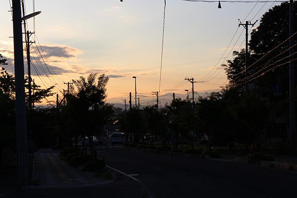 twilight view from Higashiyama Onsen, AizuWakamatsu, Fukushima