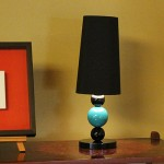 blue Urushi ball lamp