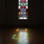 stained glass of Kaitsu Church 貝津教会