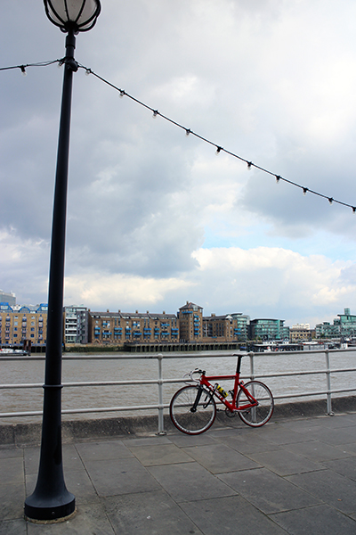 a bicycle by River Thames