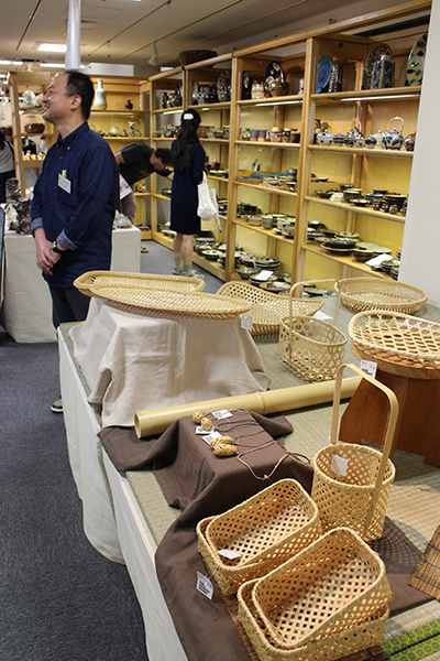 craftsmen's market at a department store in Ginza 銀座・手仕事直売所